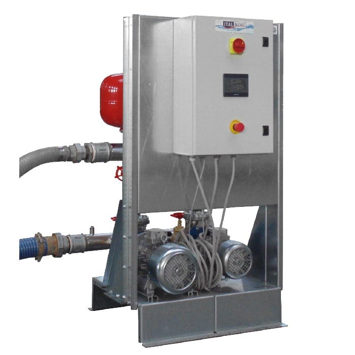 Booster units with inverter technology